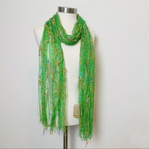 Nordstrom | NWT Green Floral Scarf + Wrap